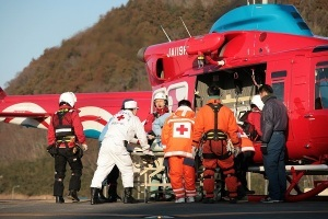 the injured survivors continued to be transferred ceaselessly by helicopter