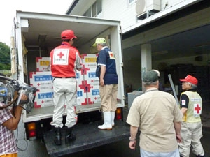 Red Cross has delivered blankets and relief items to evacuees in 3 prefectures; Fukuoka, Kumamoto, Oita.