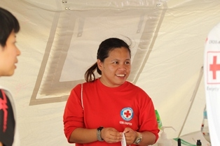 Philippine Red Cross Volunteer, Florianne Adlawan